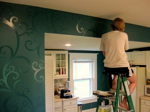 bud-kitchen-updates-accent-wall-and-faux-painted-backsplash-how-to-paint-a-wall